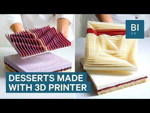 Првите уметнички торти во светот испечатени со 3Д принтер