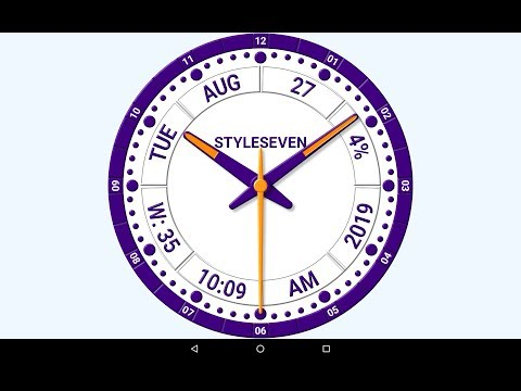 Informative Analog Clock Live Wallpaper 7 Android App On Appbrain