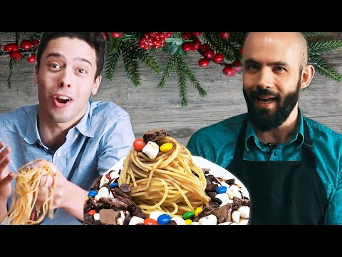 We Try Buddy The Elf's Breakfast Pasta ft. Binging With Babish