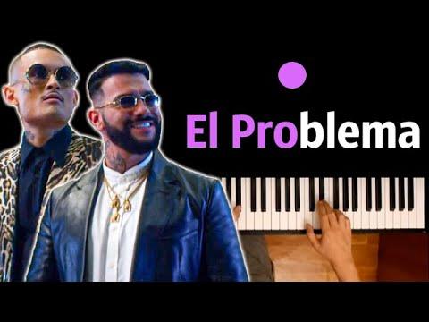 MORGENSHTERN & Тимати - El Problema ● караоке   PIANO_KARAOKE ● ᴴᴰ + НОТЫ & MIDI