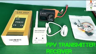 FPV transmitter receiver unboxing and review in hindi fpv camera setup fpv camera connection,
