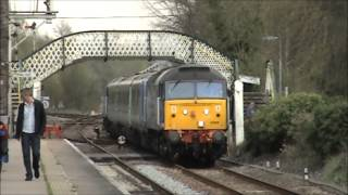 preview picture of video 'Brundall Station incl. 47828 & 47805 on Short Set - 26/04/2013'