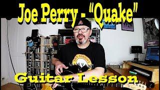 """Joe Perry: """"Quake"""" Guitar Lesson"""