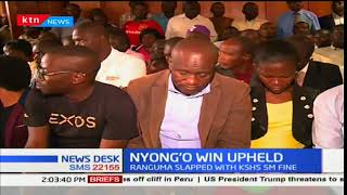 Kisumu high court has dismissed a petition challenging Anyang' Nyong'o's governorship