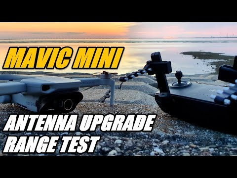 DJI Mavic Mini Antenna Upgrade and Range Test STARTRC Controller Signal Booster Yagi Range Extender