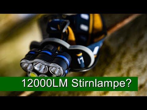 Günstige Stirnlampe mit 12000 Lumen? - Test!