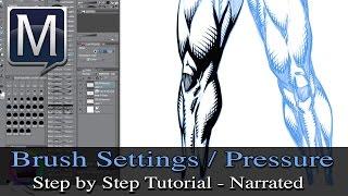 How to Adjust Your Brush Pressure Settings in Manga Studio 5 - Tutorial