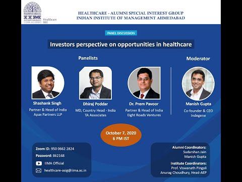 Investors perspective on opportunities in healthcare