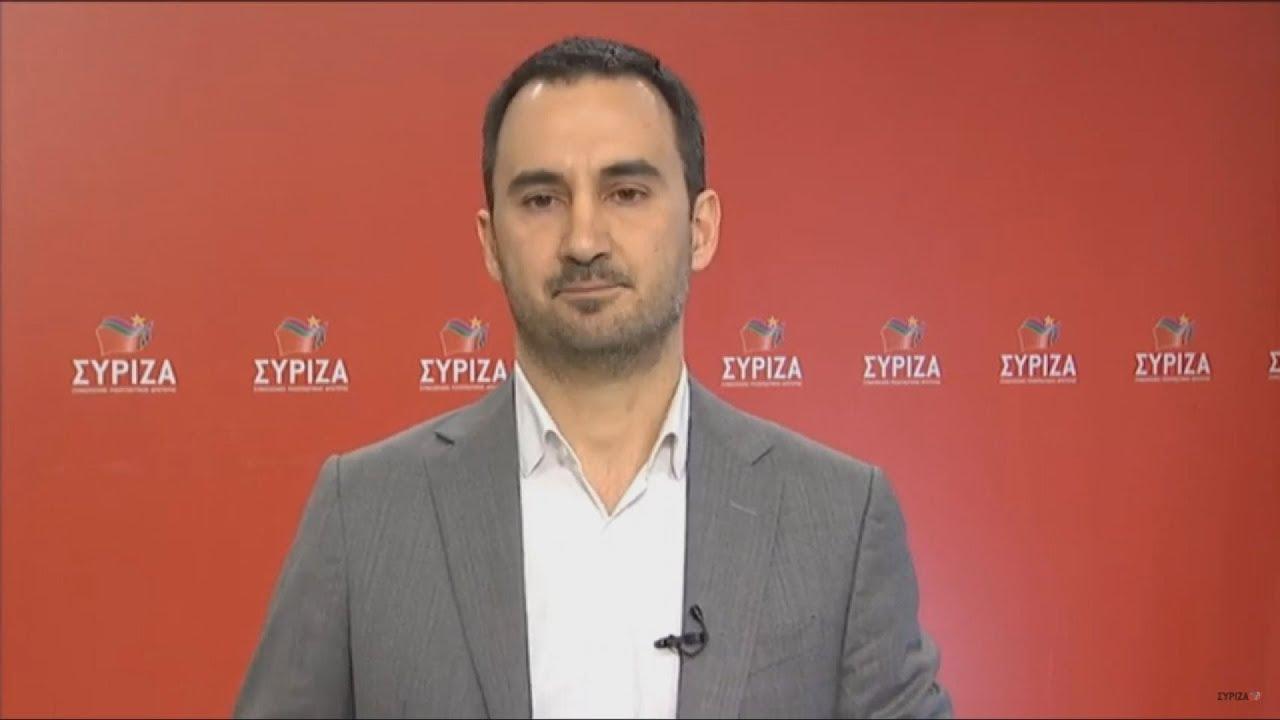 Δήλωση  του βουλευτή Μεσσηνίας και Εκπροσώπου Τύπου του ΣΥΡΙΖΑ, Αλέξη Χαρίτση