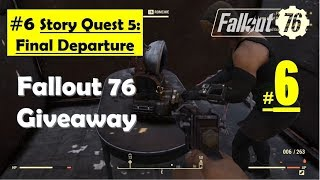 Fallout 76 - Final Departure - Investigate Airport - Learn fate of Responders - Inoculation project