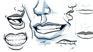 How To Draw Lips And Mouths
