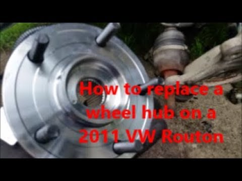 How to replace a front wheel hub on a 2011 VW Routan