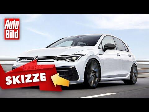 VW Golf 8 R400 Plus (2020): Skizze - Neuvorstellung - Hybrid - Info