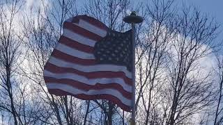 Star Spangled Banner with United States Flag Waving Free