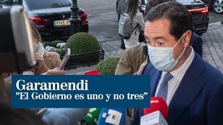 """Garamendi; """"el Gobierno es uno y no tres"""""""