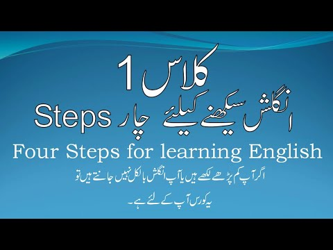 Class. 1 English speaking 1st Class for Beginners  (Urdu/Hindi). Knowledge for students