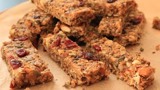 Protein And Fiber Rich Granola Bars Recipe |No Bake  |Homemade  |No Artificial Sweeteners