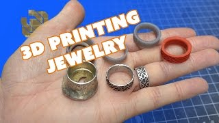 3D Printing And Metal Casting Jewelry With The Form 2 - Prop: 3D