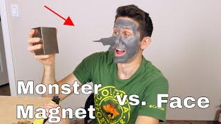 Giant Neodymium Magnet vs Magnetic Face Mask