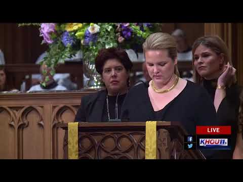 Watch: Bush granddaughters honor Barbara Bush with a reading from Proverbs