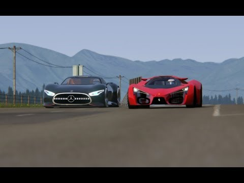 Battle Ferrari F80 Concept vs Mercdes-Benz Vision GT at Highlands