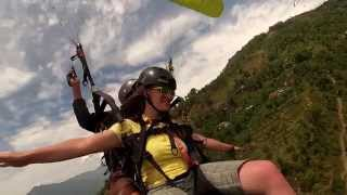 preview picture of video 'Tandem paragliding in Pokhara, Nepal'