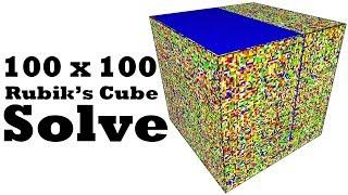 A.I. Solves a 100 x 100 Rubik's Cube