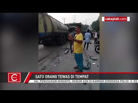 VIDEO: Mengenaskan, Kecelakaan Beruntun Terjadi di Jalintim Pelalawan