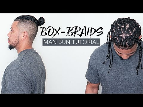 💈 How To Do Triangle Box Braids | Man Bun Tutorial