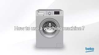 How to use a washing machine?   by Beko