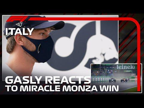 F1イタリア・モンツァで優勝したピエール・ガスリーがあらためてモンツァでの走りを分析・解説してくれる貴重な映像