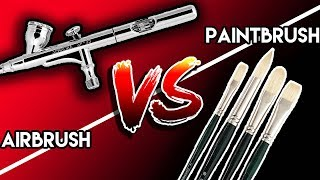 AIRBRUSH VS PAINTBRUSH | Which Is Better For Customizing Shoes ?