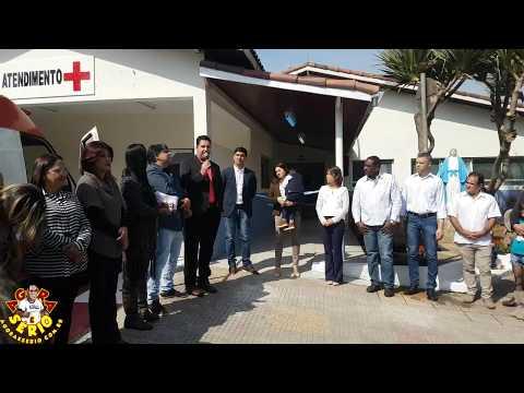 Prefeito Arizinho de São Lourenço da Serra e Vereadores na Inauguração da Reforma do Pronto Socorro de São Lourenço da Serra
