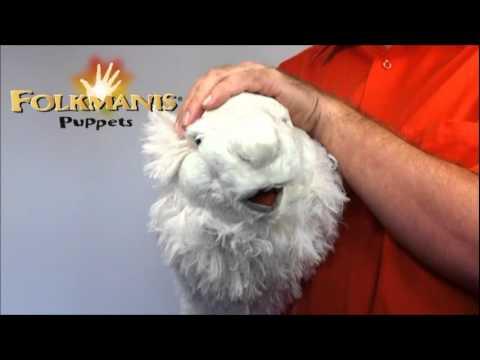 plyšová Lama alpaka maňásek na ruku