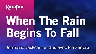 Karaoke When The Rain Begins To Fall - Jermaine Jackson *