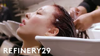 I Dyed My Hair Burgundy Red & Got Bangs | Hair Me Out | Refinery29