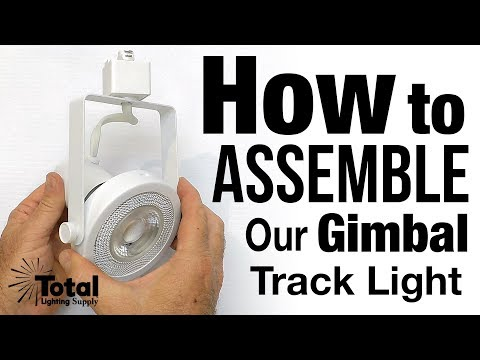 How to assemble our Gimbal Ring Track Light TLKS212, TLSK213 & TLSK214 Fixtures