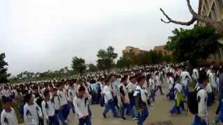 preview picture of video '《壮哉!一中》记录阳江一中2015年春季开学第一周·延时摄影'