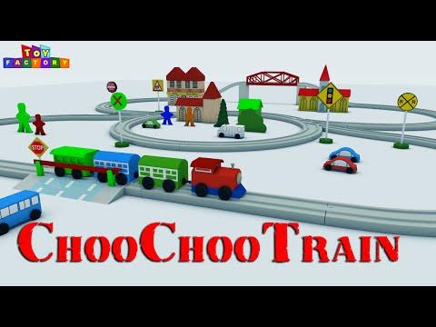 Choo Choo Train - Toy Train videos - Train videos for Kids - Toy Factory Cartoon - JCB