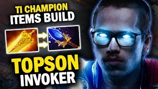 GENIUS OR TOXIC BUILD? TI CHAMPION OG.TOPSON INVOKER 1ST ITEM RADIANCE VS OG.NOTAIL NAGA - EPIC GAME
