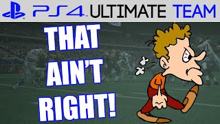 THAT AIN'T RIGHT - Madden 15 Ultimate Team Gameplay | MUT 15 PS4 Gameplay