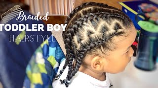 TODDLER BOY HAIRSTYLE 15    EASY BRAIDED TODDLER BOY HAIRSTYLE    BEADED STYLE    #PROTECTIVESTYLE
