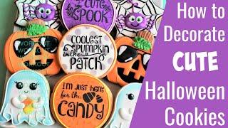 Cute Halloween Cookie Tutorial - SIX Designs!