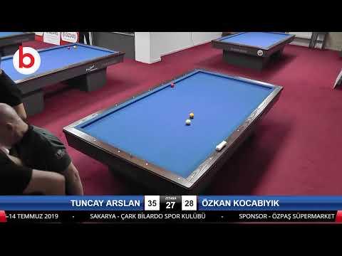 TUNCAY ARSLAN & ÖZKAN KOCABIYIK Bilardo Maçı - SAKARYA ÖZPAŞ CUP 2019-2.TUR