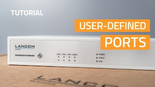 YouTube-Video Configuration of user-defined ports