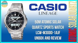 Small But Mighty! | Casio Lineage 50m Atomic Solar Quartz LCW-M300D-1AJF Unbox & Review