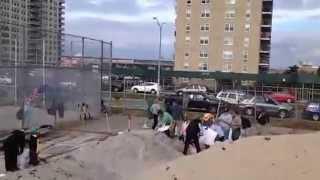 preview picture of video 'Rockaway Beach New York - iReporter - Hurricane Sandy - 3'