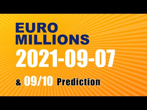 Winning numbers prediction for 2021-09-10|Euro Millions