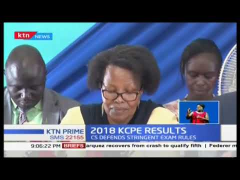 2018 KCPE Results: Amina Mohammed says this year's exams did not leak