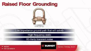 Burndy Raised Floor Grounding